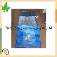 pp blue breathable big bag for packing onions exported to USA