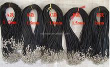 Кожа круглый плетеный ремешок ожерелье браслет <span class=keywords><strong>шнуры</strong></span> омар застежка ювелирные изделия