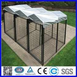 10x10x6 foot classic galvanized outdoor dog kennel/dog kennel designed