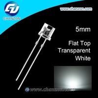 Through Hole Flat top 5mm LED diode White