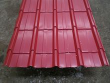 New building construction materials/ Color glazed steel sheet 840mm 4 canals