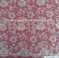 Allover embroidered floral lace fabric wholesale