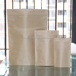 hot sale resealable brown kraft paper bag wholesale/flour kraft paper bag