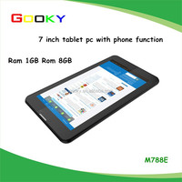 Ram 1gb rom 8gb MTK dual core 7 inch android wcdma gsm 3g tablet pc