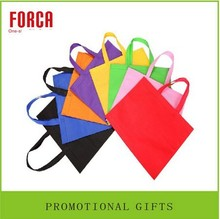Eco low price nylon pp reusable handled logo mesh non-woven shopping bag