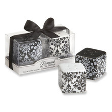 Wedding Favors Damask Ceramic Salt & Pepper Shakers