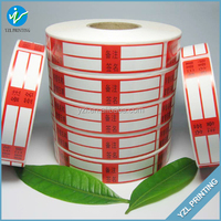 Removable half adhesive blank paper sticker