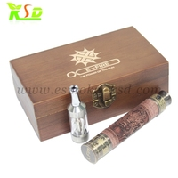 Ksd special design and hot selling refillable electronic cigarette e-fire wood vaporizer