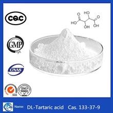Top Quality Manufacturer Supply Food Additive Cas 133-37-9 DL-Tartaric acid chemical formula
