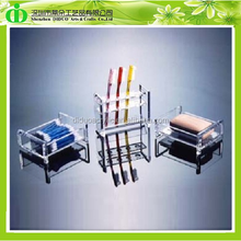 DDC-H002 ISO9001 Chinese Factory Made SGS Test Luxury Plastic Toothbrush Display Holder for 5 Star Hotel