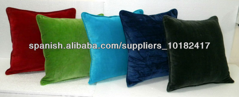 Color Dyed Cotton Velvet Cushion - 45 Cm Sq.