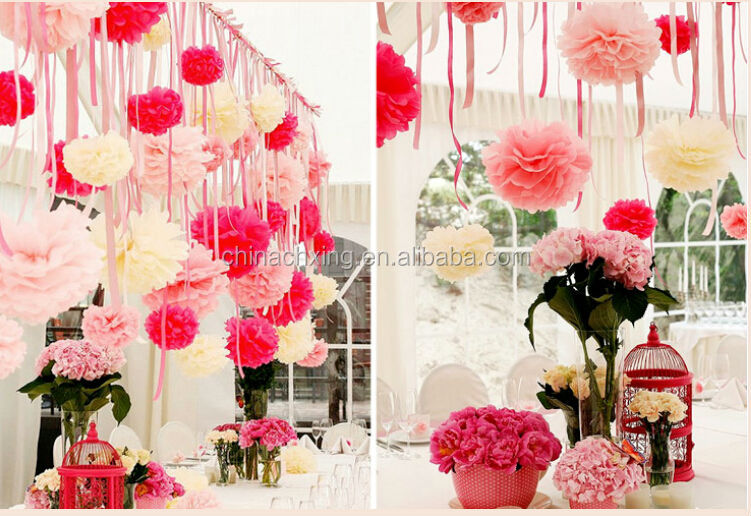 8inch 20cm tissue paper wedding stage decoration with flowers for qq20140619154824g junglespirit Images