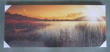 Wall decoration made in china best selling products quiet reed marshes printing canvas