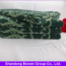 high quality 100% cotton cut pile jacquard luxury hair towel
