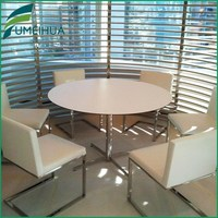 compact grade wooden round dining table top for sale