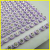 Pink Purple Banding With Crystal Stone Plastic Rhinestone Strip