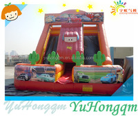 Special Design Inflatable Car Theme Bouncer Slide With Double Lane Slip Slide For Adult Playground