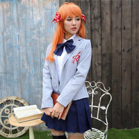 2015 New Japan Hot School Girl Cosplay Uniform Sex Costume Photos Anime role-playing game