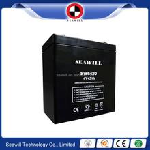 Rechargeable 6v 42Ah Sealed maintenance free SMF lead acid battery