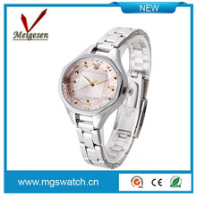 Charming luxury lady top quality stainless steel wrist watch, stone Mickey design watches