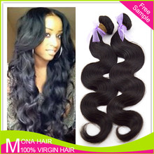 Ture length high quality natural virgin remy human hair