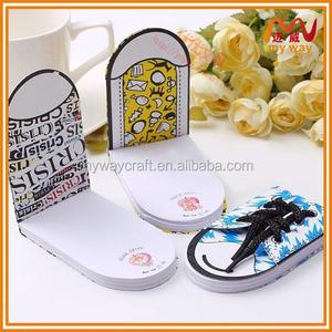 Sıcak satış fantezi teşvik ayakkabı şekilli flip not yastıkları, öğrenci için yapışkan not