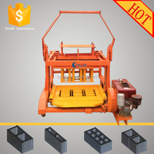 Price for Diesel mobile color solid brick QMR4-45 egg laying block moulding machine, cement block machine