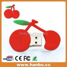 PVC material product Cherry shape USB Flash drive