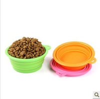 Hot Sale 100% Food Grade Wholesale Collapsible Travel Silicone Dog Bowl