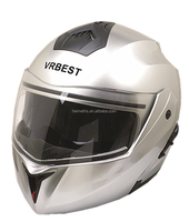 Double visors flip up motorcycle helmet