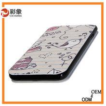 Sublimation printable leather flip case for HTC M8