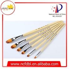 Office&School Nylon Hair Acrylic Art Paint Brushes Manufacturers China 203 Flat