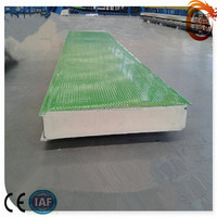 Construction metal materials High quality color steel PU sandwich wall panel