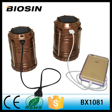 Rechargeable camping lantern / solar led lantern/AAA battery USB power bank made in china
