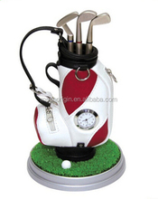 Mini Golf Club Bag with Pen and Clock