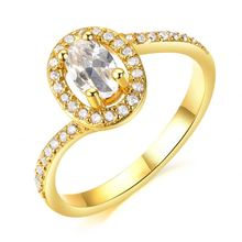 Newest factory sale excellent quality female fashion gold plated ring reasonable price KJ016-3