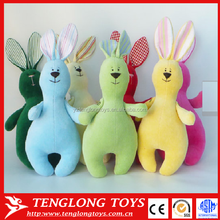 Soft toy bunny, Stuffed rabbit toy Easter bunny,blue pink green yellow red white rabbit