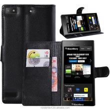 Hot Sale Lichee Pattern Stand Flip Leather Case for blackBerry Z3
