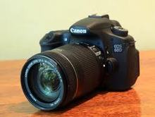 Canon EOS 60D 18.0 MP Digital SLR Camera - Black - Body Only