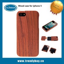 Factory price natural wood case for iphone 5s wood case