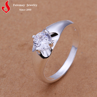 Hot sale silver baseball engagement ring