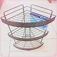 2015 hot sale metal 2-layer bathroom wire rack