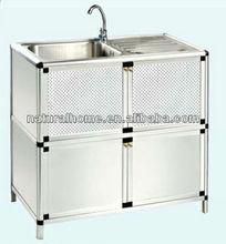 Aluminium kitchen cabinet skins cabinet factory