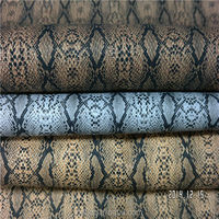 Promotional pu snake skin faux leather