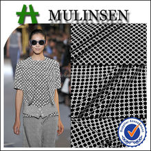 2015 New Fashion Designs Knitted Jacquard Fabric, Crepe Polyester Spandex Jacquard Knitted Fabric for Garment Fabric
