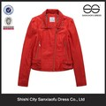 New Design Red jaqueta de couro da moda Hot linda mulher roupas