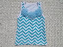 Wholesale popular fancy girl cotton chevron top baby clothes