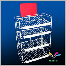 Factory price portable free standing metal wire cd display stand for retail store