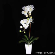orquídeas blancas flores artificiales con maceta