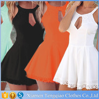 5 Colors Overalls Hollow Out Playsuit Sexy One Piece Adult Jumpsuit Pajama Shorts